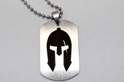 Vojenská psí známka helma